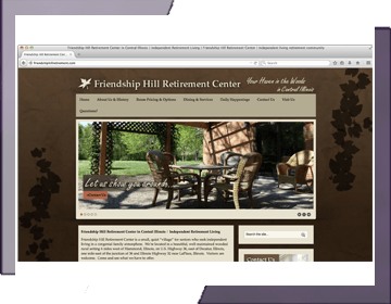 Friendship Hill Retirement Center Website Design