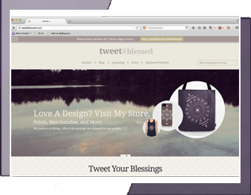 TweetBlessed.com Design Blog